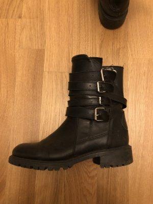 Lederstiefel ZARA / super Zustand / Gr. 37 / biker boots