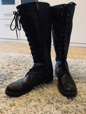 Tamaris Botas con cordones negro
