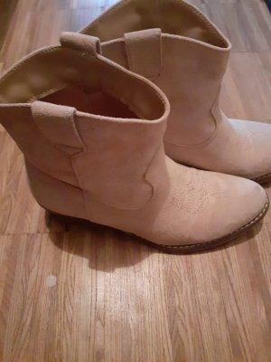 Wciągane buty za kostkę w kolorze różowego złota