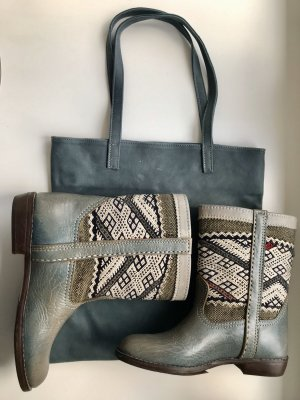 Lederstiefeletten 39 + passende Lederhandtasche