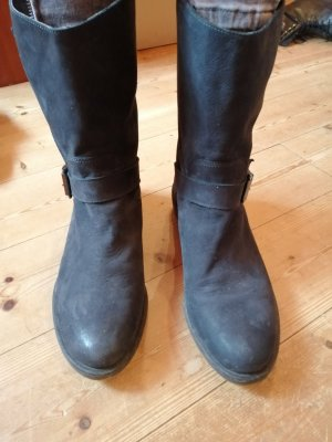 Slip-on Booties anthracite leather