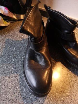 Akira Bottines à enfiler noir cuir