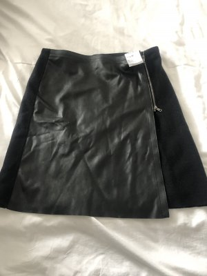 MARCCAIN Skórzana spódnica czarny
