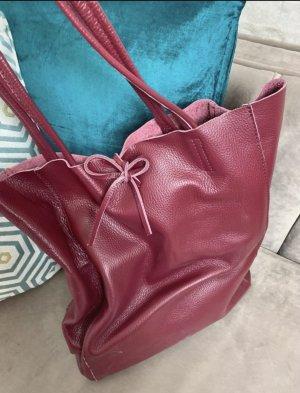 Borse in Pelle Italy Handbag blackberry-red