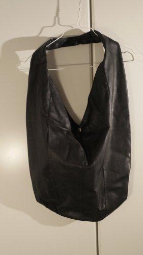 unknown Sac seau noir cuir