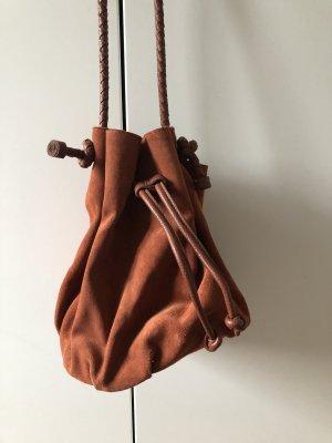Zara Bolso tipo marsupio marrón-coñac
