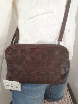 Depeche Crossbody bag dark brown leather