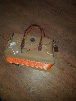 La Martina Bolso tipo cesta marrón claro-naranja