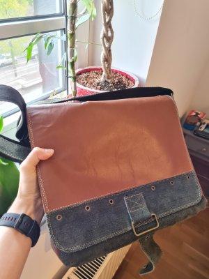 Ledertasche für Laptop oder Dokumente, Reissverschluss, Handmade