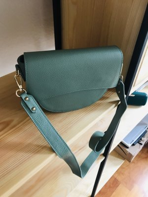 Borse in Pelle Italy Crossbody bag sage green leather