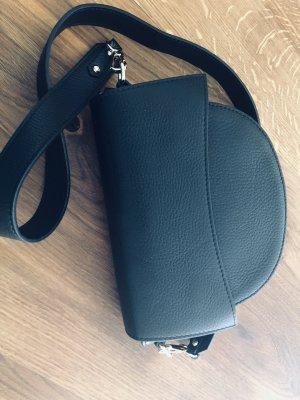 Ledertasche Handtasche leder schwarz minimalismus Umhängetasche TOP