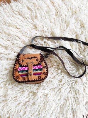 Ledertasche Ledertäschchen braun Hippie boho ethno süß