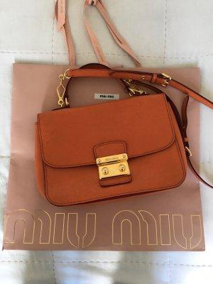 Miu Miu Sac porté épaule orange-orange fluo