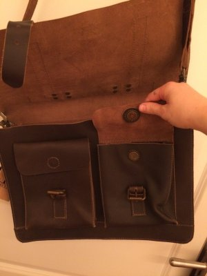leconi College Bag brown leather