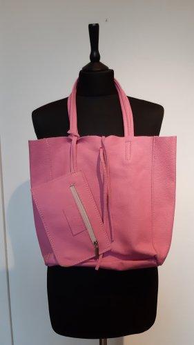 Ledertasche Pink