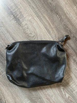 Ledertasche schwarz hallhuber clutch neu