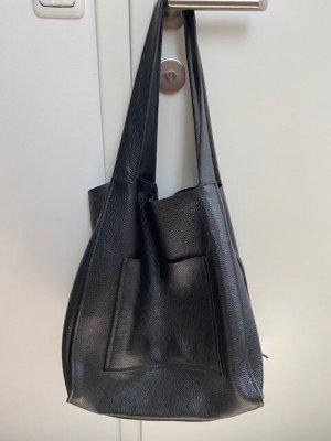 Ledertasche schwarz Zara