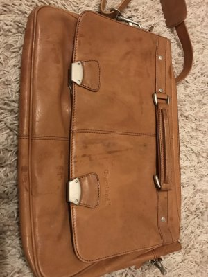Greenland Westcoast Laptop bag cognac-coloured-camel leather