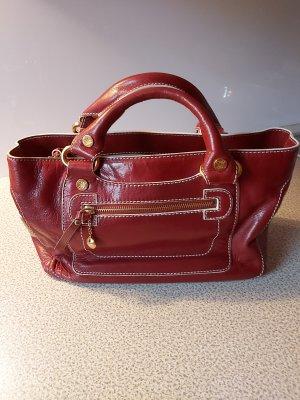 Celine Handbag dark red leather