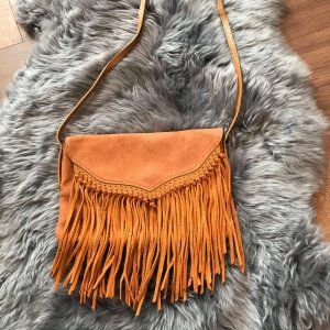 Topshop Crossbody bag brown leather