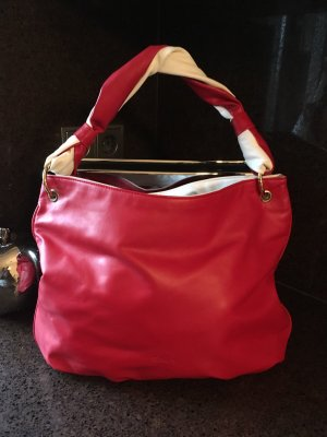 Pouch Bag red-white