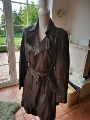 Cocktail Leather Coat brown