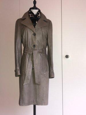 Oakwood Leather Coat green grey leather