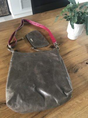Augenthaler & Heberer Sac réversible gris-rose cuir