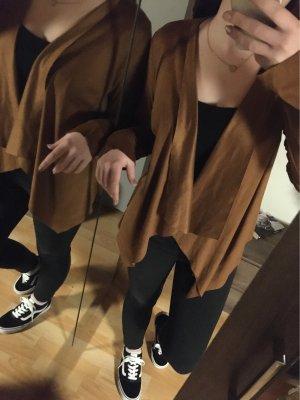 Tally Weijl Chaqueta de cuero de imitación marrón-color bronce