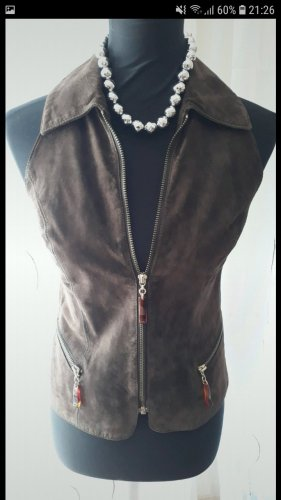 Apart Leather Vest brown
