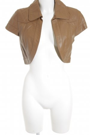 Leather Vest light brown casual look
