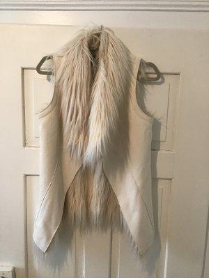 Malvin Skórzana kamizelka w kolorze białej wełny Skóra
