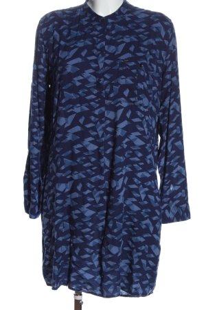 Lee Vestido camisero azul estampado repetido sobre toda la superficie