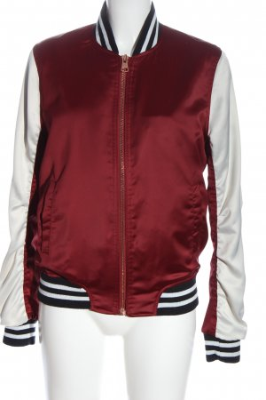 Lee Bomber Jacket red-white casual look