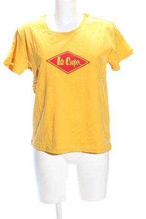 Lee Cooper T-Shirt blassgelb Schriftzug gedruckt Casual-Look