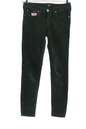 Lee Pantalone di velluto a coste nero stile casual