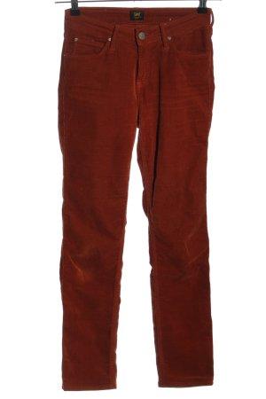 Lee Corduroy broek rood casual uitstraling