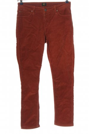 Lee Cordhose hellorange Casual-Look