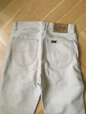 Lee High Waist Trousers natural white cotton