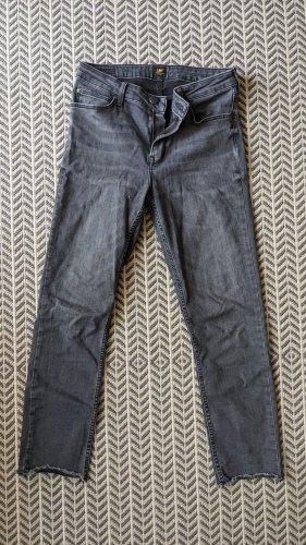 Lee jeans 7/8 Length Jeans dark grey cotton