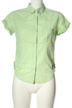 Lee Koszulowa bluzka zielony Na całej powierzchni W stylu casual