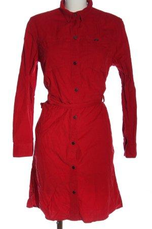 Lee Koszulowa sukienka czerwony W stylu casual