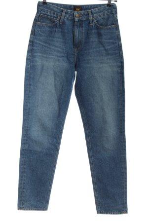 Lee Jeans taille haute bleu style décontracté