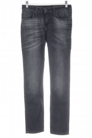 Lee Hoge taille jeans antraciet casual uitstraling