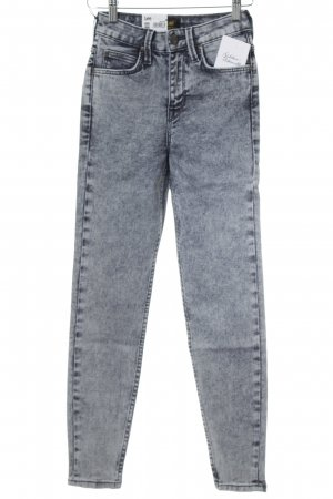 Lee Hoge taille jeans grijs-donkergrijs kleurvlekken patroon casual uitstraling