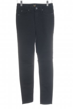 Lee Hoge taille jeans zwart casual uitstraling