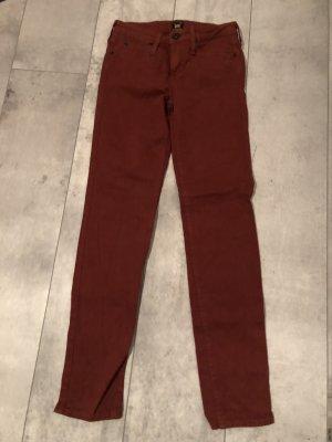 Lee Jeans skinny brun rouge-rouille