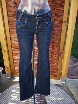 Lee Jeansowe spodnie dzwony niebieski-ciemnoniebieski