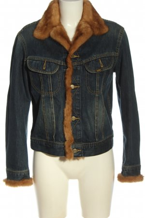 Lee Veste en jean bleu-brun style décontracté