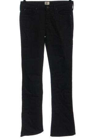 Lee Jeansowe spodnie dzwony czarny W stylu casual